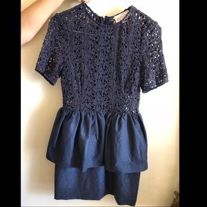 Navy thick lace dress